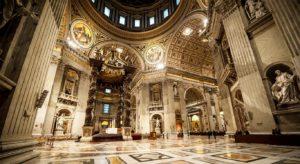St. Peter's Basilica in Vatican inside