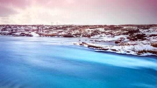 Beautiful Iceland landscape, peaceful winter panorama, scenic destination, amazing big lake, majestic nature of Iceland, Scandinavia